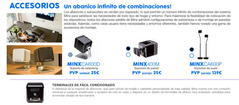 Accesorios para Cambridge Audio MINX