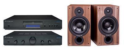 Amplificador + Reproductor de CD + Altavoces