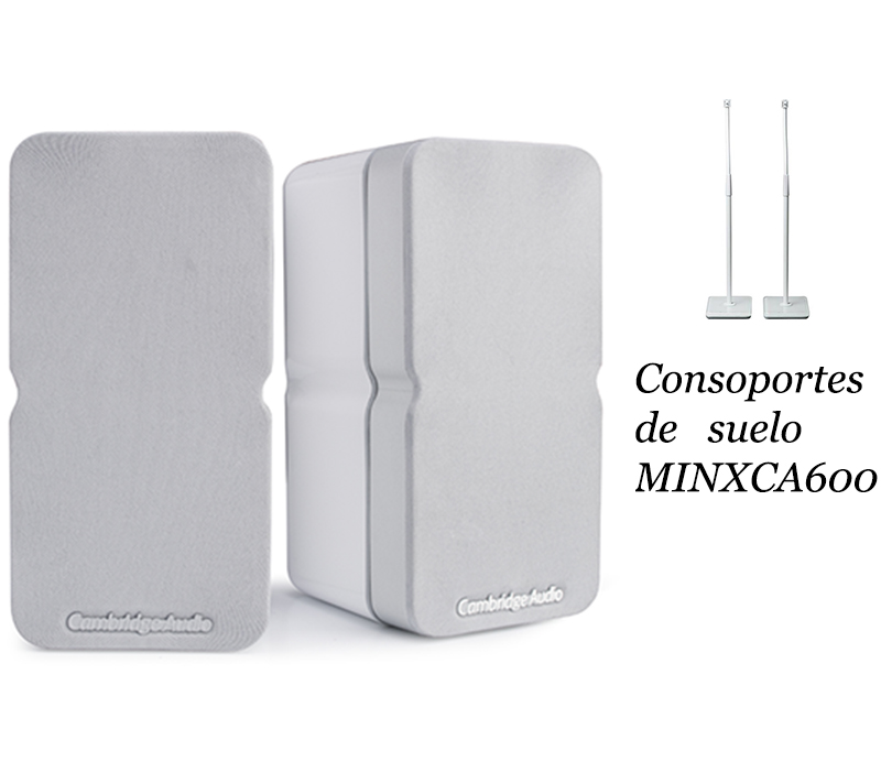 Cambridge Audio MINX22 white + soporte suelo