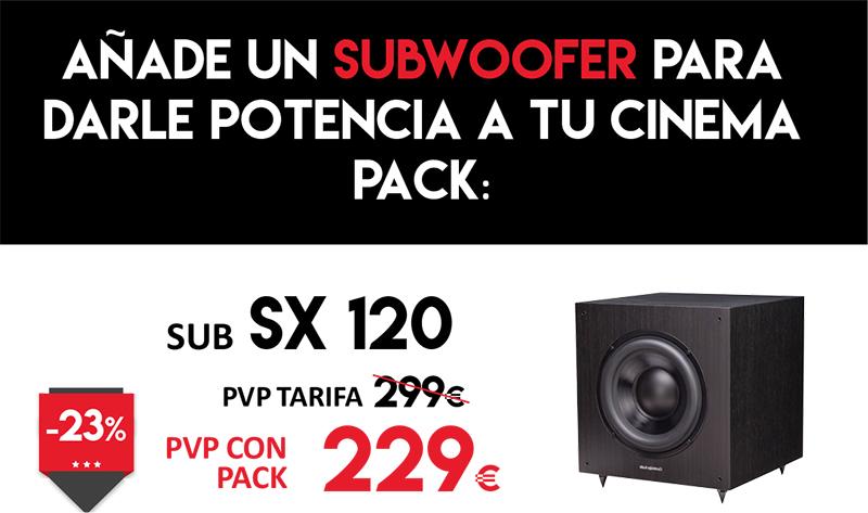 Añade subwoofer SX120