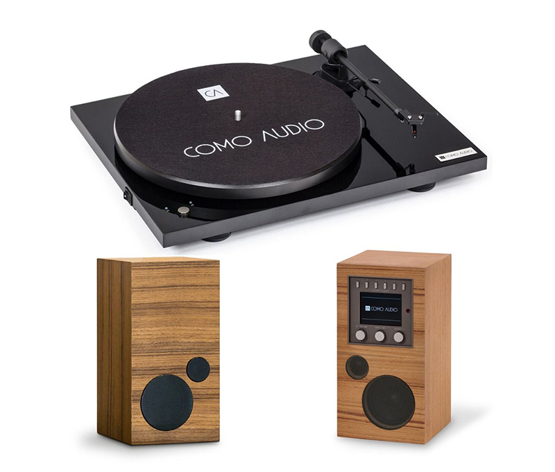 Como Audio Turntable Black + Amico + Amica.