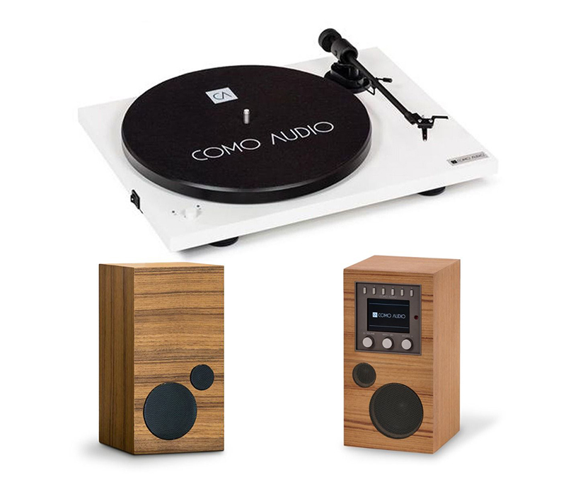 Como Audio Turntable White + Amico + Amica