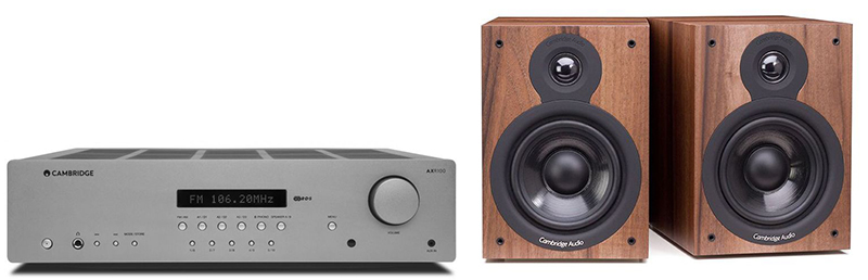 Cambridge Audio AXR100 +SX50 Walnut