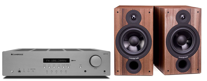 Cambridge Audio AXR100 +SX60 Walnut