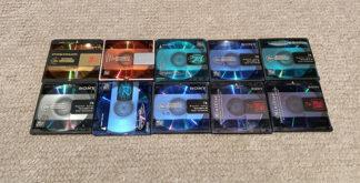 Lote 10 cintas Minidisc Sony 74