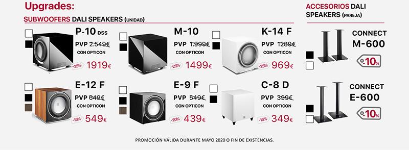 Dali Opticon Promo Mayo 2020 Upgrades