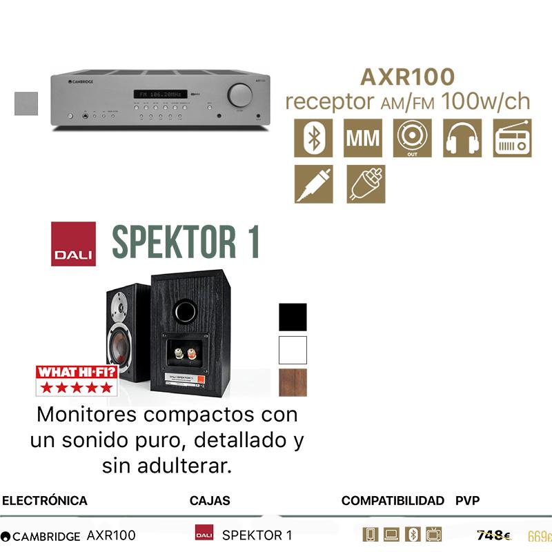 Pack Cambridge Audio AXR100 + Dali Spektor 1 o 2