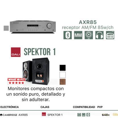 Pack Cambridge Audio AXR85 + Dali Spektor 1 o 2
