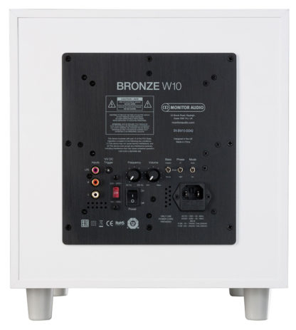 Monitor Audio Bronze W10 Conexiones