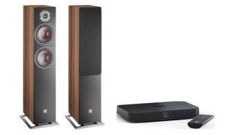 Dali Oberon 7C + Sound Hub Compact Nogal